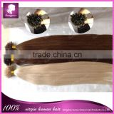 "16-32"" Virgin Pre-Bonded hair U Tip Keratin Glun Nail Tip Hair Extension Silk Straight Brazilian human hair products 100s"