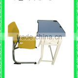 school furniture modern cheap plastic school desk with bench HXZY033