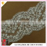 HC-2198-1Hechun Tulle Imported Made Bead Wide Venice Lace Bridal Trim