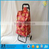 Trade Assurance ISO foldable shopping trolley bag canvas shopping cart