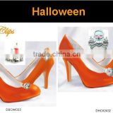 Fashion metal Halloween shoe clips jewelry set ,Customized Colors or LOGO and OEM design accept