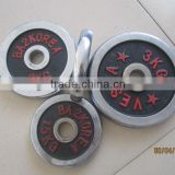 weightlifting gym 10kg chrome barbell weight plate