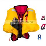 CE approved manual neck inflatable lifejacket swim vest 150N