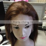 short 12'' brazilian hair full lace wig human hair thin skin top lace wig adjustable wig cap
