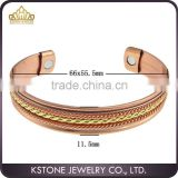 KSTONE online wholesale copper bangle jewelry magnetic cuff, Waves Copper Magnetic bangle