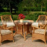 Classic Aluminium Frame Poly Rattan Dining Set Outdoor Furniture