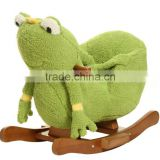 cute customized Plush frog baby rocker animal with chair baby rocking chair