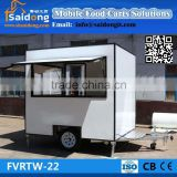 Factory customized design mobile hot dog trailer-food cart -mobile kitchen truck for sale