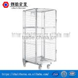 Long service Zinc-Plating Collapsible Warehouse Equipment Galvanized steel mobile trolley