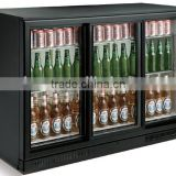 Three glass door storage beer cooler beer promotional fridge 2-10 temperature back bar beverage cooler