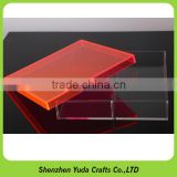 Factory supply acrylic desktop tray, plexiglass dustproof box acrylic dust proof showcase