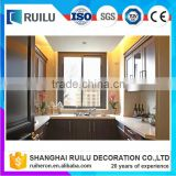 Aluminum alloy power coating champagne color sliding window design