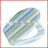 Simple stripe design resin custom automatic toilet seat cover