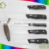 Hot sale Popular latest design top grade sharp-edged color wood handle ceramic knife set