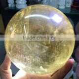 Natural citrine crystal iceland spar ball/sphere for sale ,magic crystal healing ball