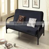 Factyory price Black metal Futon bed Sofa furniture
