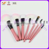 Colorful of synthetic hair brush set with 8 piece