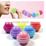 Multi-colors round ball shape lip balm for ladies