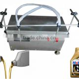 Stainles steel semi automatic electric Double nozzle engine oil filler shampoo filling machine Liquid Soap Filling Machine