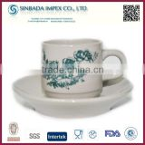2015 popular blue and white porcelain, tea cup and saucer wholesale
