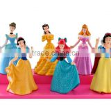 OEM plastic cartoon figure,cartoon princess figure character, plastic pvc beautiful girl figure toy