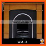 Hand craved pure pine wood fireplace mantel