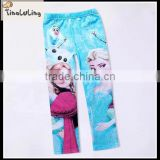 Popular baby product cartoon cute fashion blue legging fashoin pants hot sale