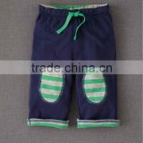 TODDLER BOYS PANT WITH STRIPED KNEE PATCH