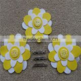 Make Your Own Brooches, Felt Daisy Brooches, Flower Brooches For Party Bags