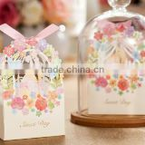 Romantic Wedding Gift Box Chic Luxury decoration Flower Wedding Party Laser Cutting sweet wedding favor Candy Box Paper