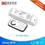 T1+R4 DC 12V single color dimming controller/ RF remote led touch dimmer