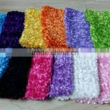 Wholesale multi colors baby kids crochet fuzzy chenille stretch tutu top M5061601