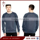 Men 's Plain Basic Indigo Sweatshirt Custom crew neck Sweatshirt