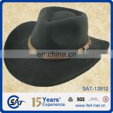 black wool felt cowboy outdoor porkpie Hat