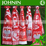 satin chiffon printed different country polska poland soccer scarf