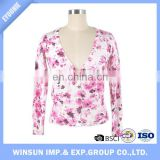 Women's Spring Button Down Floral Print Cardigan Sweater