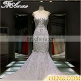 China dress manufacture high quality custom white fish cut gown images
