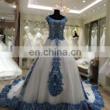 russian blue wedding dress bridal gown latest