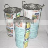 Recycled Tin Umbrella Stand Set of 3