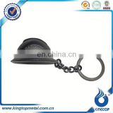 Hot sale Metal 3D Safety Helmet Shaped Keychain/Keyring