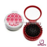 foldable round compact mirror with brush CD-MP502