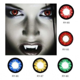 Cosplay Contact Lenses Cat Coloured Contacts Lens Colored Color Halloween Purple Alt Green Gragon Sharingan with PP Pack