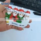 2020 Fashion New Design Santa Claus Family Christmas Tree Decoration Baubles Resin Craftwork