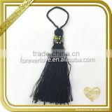 Silk tassels bow bell for keyring, butterfly bell tassel keychain Ft-025