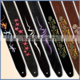 Factory direct sale full colored custom plain guitar straps for guitar parts & accessories