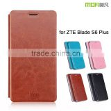 2016 New Arrival! MOFi Case Cover for ZTE Blade S6 Plus, Luxury PU Leather Case for ZTE Blade S6+
