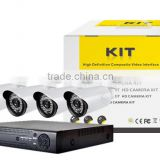 Cheapest 4CH 960H Surveillance DVR & IR Cameras CCTV Camera System With 4 PCS 700TVL Bullet cameras