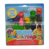 Eco-Friendly Cute Multi Color Plastic Finger Crayons , Plasic Finger Crayon Set