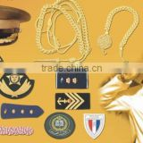Cap Cord Chin cord strap Accessories Badges Embroidred Hand Machine Bullion Patches Emblem Jugullers