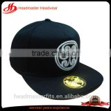 Custom high Quality 3D Embroidery cotton snapback hat square Flat Brim 5 panel plain Snapback Cap